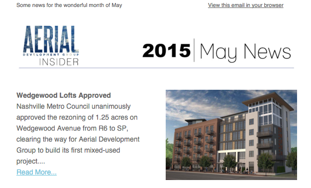 May Newsletter, 2015