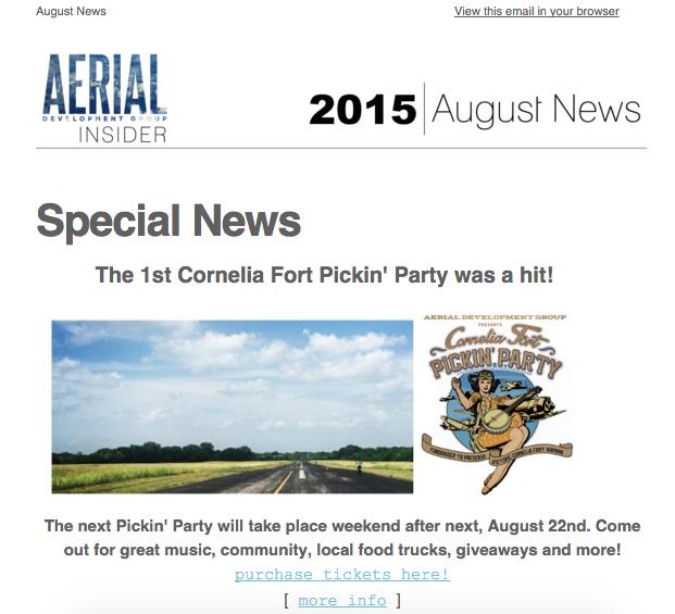 August Newsletter, 2015