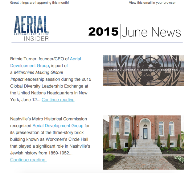June Newsletter, 2015