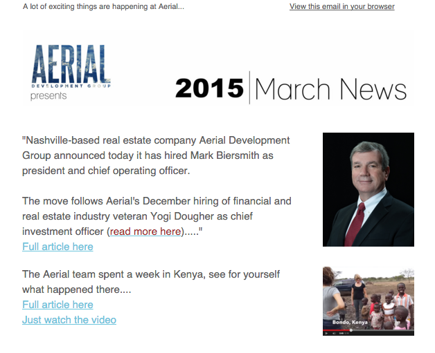 March Newsletter, 2015