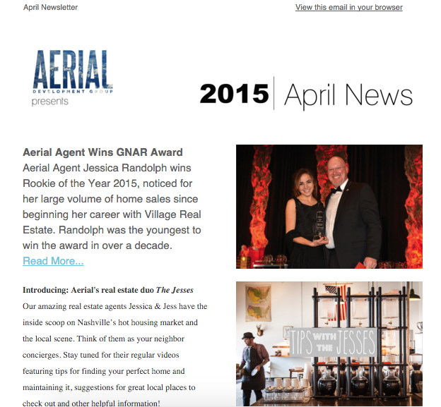 April Newsletter, 2015