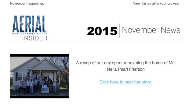 November Newsletter, 2015