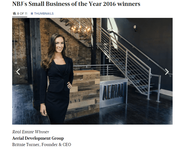 Aerial Wins NBJ 2016 Small Business Awards